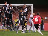 Rogerio Ceni taking a free kick for Sao Paulo