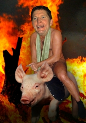 Bryce On A Pig3