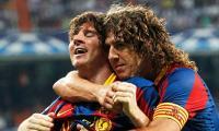 Leo Messi celebrates goal