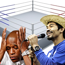 Manny Pacquiao sings for joy as Floyd Mayweather Jr. hints at ring return