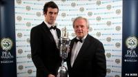 Gareth Bale receives his award