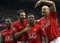 Nani celebrates an assist