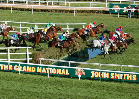 One of the jumps in The Grand National