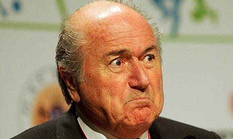 Angry Sepp Blatter