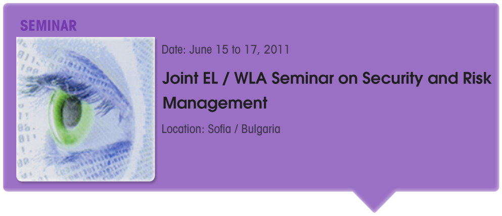 Joint EL | WLA Seminar on Security and Risk Management
