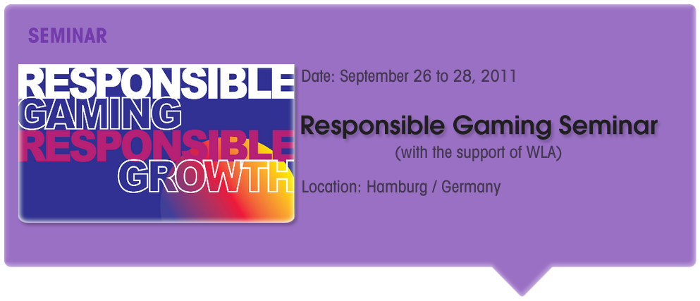 Responsible Gaming Seminar/Conference (WLA Support)
