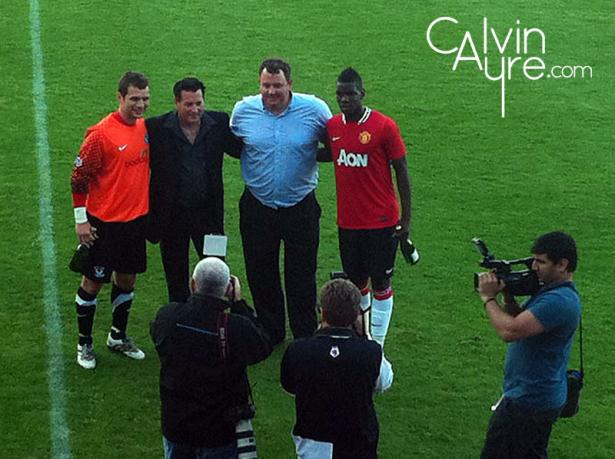 Ayr United battles Manchester United