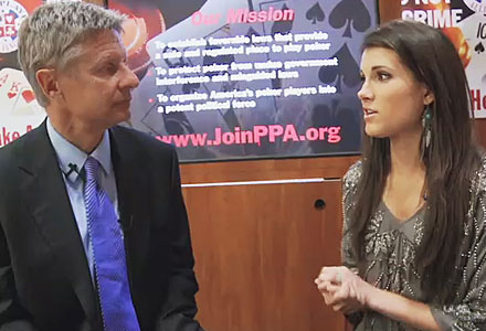 Interview with Gary Johnson about Online Poker Regulation
