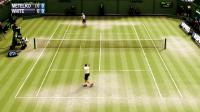 Virtual tennis on grass