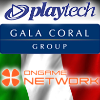 Playtech inks deal with Gala Coral; Ongame first to offer Italians cash games