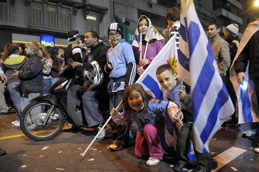 Uruguay party welcomes Copa America champions