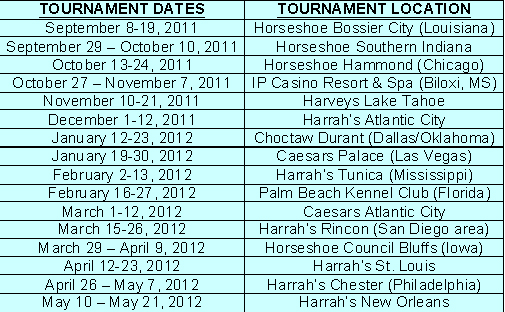 wsop circuit event schedule