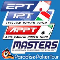 Poker: APPT Melbourne, IPT San Remo, EPT Tallinn, EMOP Dublin, PPT Barcelona
