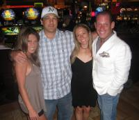 Jenny Woo, Football Handicapper, Becky Liggero and Peter Gold at the 2009 VegasInsider.com Handicapping Seminar