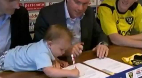 Real Madrid signs seven year old soccer star