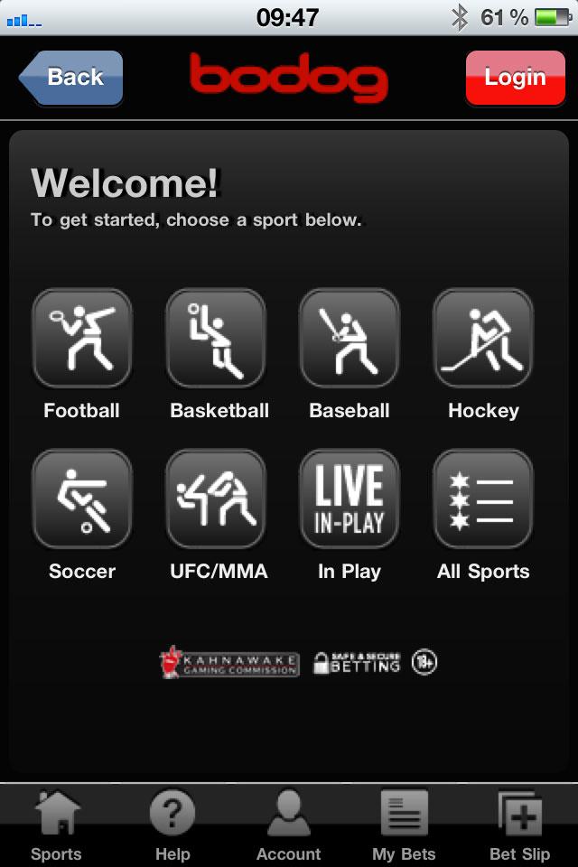 login bodog sports