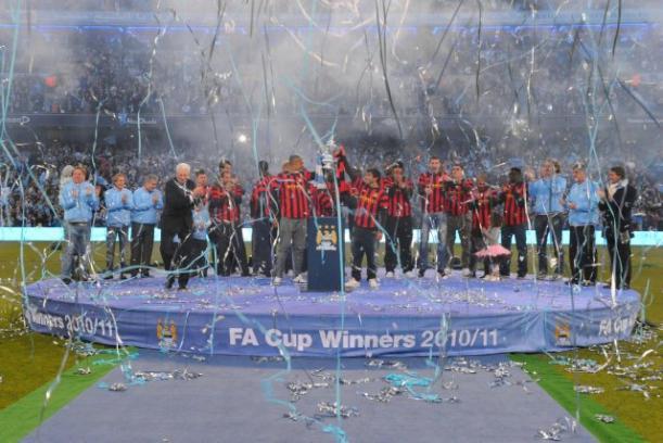 City lift FA Cup