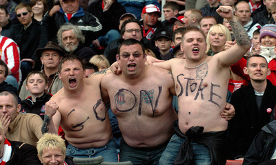Fans at Stoke
