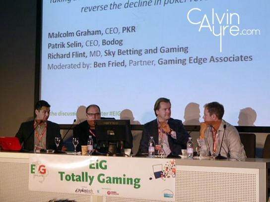 European iGaming Congress and Expo (EiG) poker panel with Patrik Selin, Malcolm Graham and Richard Flint