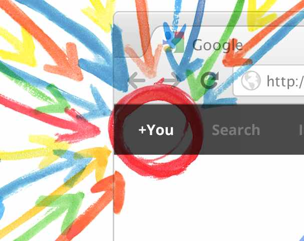 Google Plus patting itself on the back