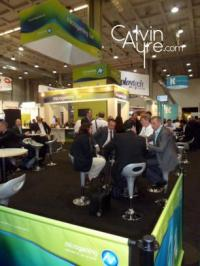 The microgaming bar at EiG, a gathering spot for online gambling professionals on the expo floor