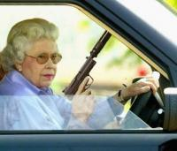 old lady with a gun