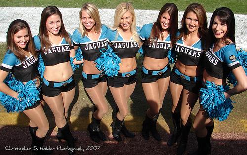 Jags cheerleaders