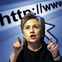 Hillary Clinton praises internet freedom, but US doesn't practice what it preaches