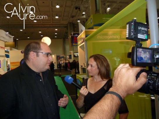 CalvinAyre.com Reporter Becky Liggero interviewing Bodog UK CEO Patrik Selin