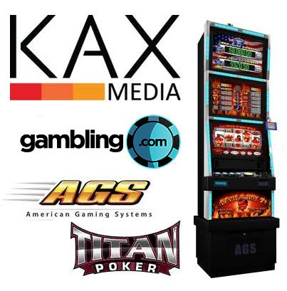 KAX Media officially relaunch Gambling.com; AGS granted Illinois VGT licence; Titan Poker announce tournament