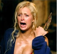 Paris Hilton scared