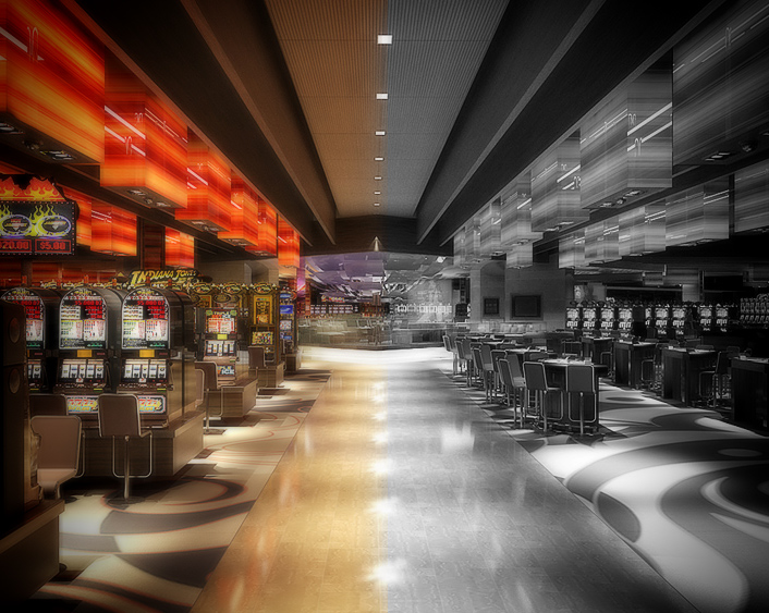 Slots Machines on Casino Floor