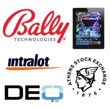 Bally Technologies launches apps; Intralot receives Athens SE award; DEQ Systems' annual revenue fiures