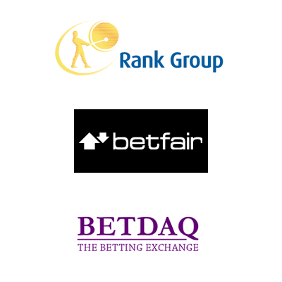 Rank driven on by interactive; Betfair on the look out for new man; Betdaq extends racing deal
