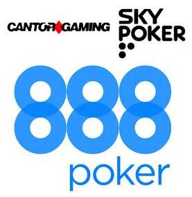 Cantor Gaming to accept any types of plastic; Sky Poker TV's new schedule; 888poker launch Race Horse Syndicate Tournament Series