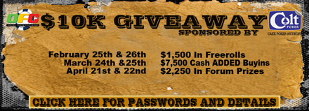 Global Gaming Events Continues $10K Giveaway Series sponsored by Colt Poker