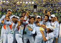 Indian cricket team celebrate