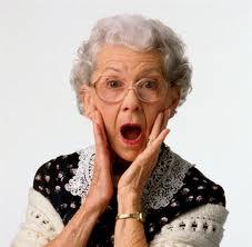 old lady shocked