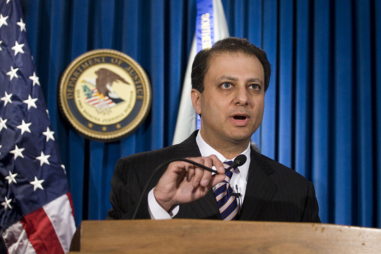 Preet Bharara makes TIME 100; Full Tilt registrations confirmed; Vegas planning zip wire