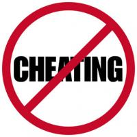 no cheating sign