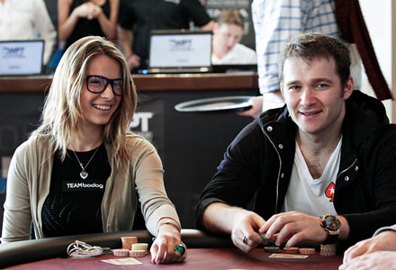 Tatjana Pasalic and Eugene Katchalov at poker table