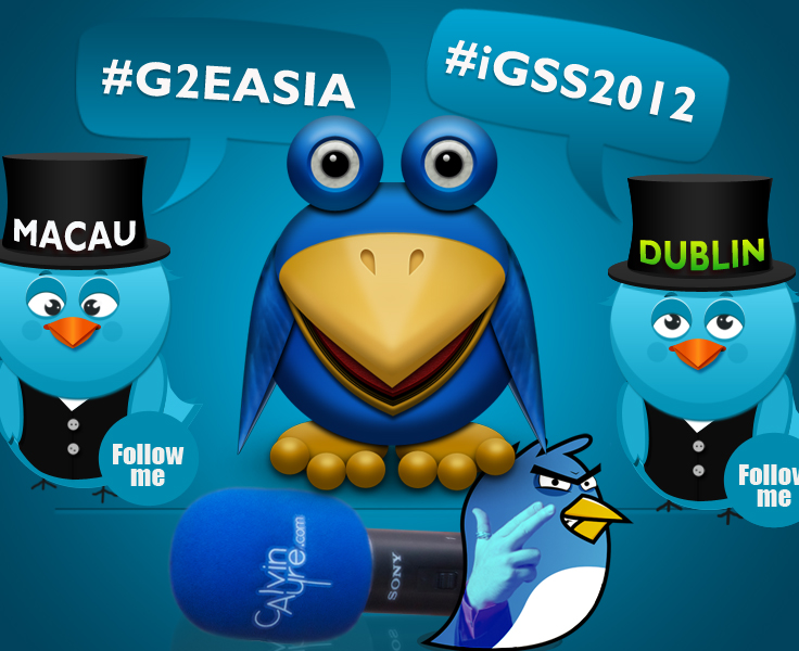 CalvinAyre.com Twitter team to follow on G2E Asia and iGaming Supershow