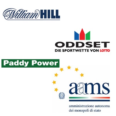 William Hill partner with mobile site; Oddset team up with champions; Paddy going to Italy; AAMS fighting the mafia