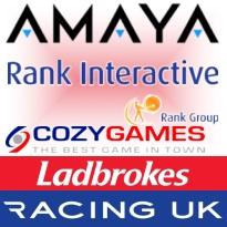 Amaya Q1; Rank gets Cozy; Ladbrokes suspends trader; Racing UK upstream