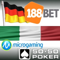 188Bet exits Germany; Italy sports bet slump; Microgaming didn't fine 5050Poker