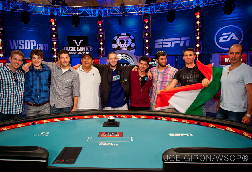 Final Table Set at 2012 World Series of Poker Main Event