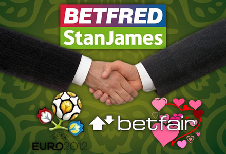 Betfred sells to Stan James; Betfair increases revenue thanks to Euro 2012