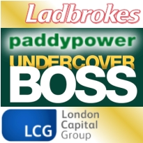 Ladbrokes teams with ITV Sport; Paddy Power's Undercover Boss; LCG sinks
