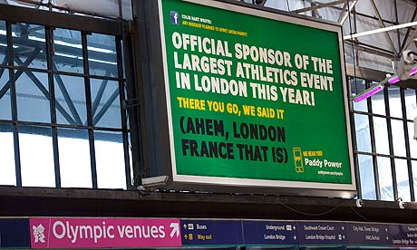 UPDATED: Paddy Power wins billboard fight with Olympic brand bullies