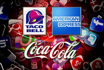Social Media, Facebook, Twitter, Taco Bell, American Express, Coca-Cola